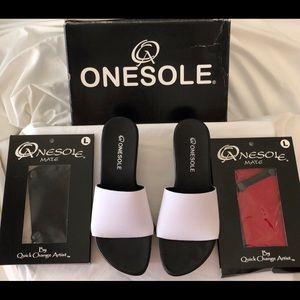 Onesole interchangeable shoes NWT, red, black, wht